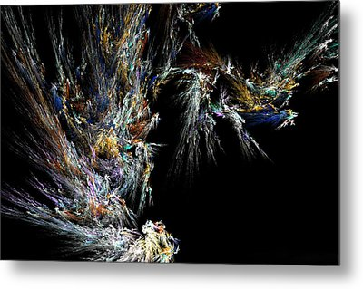 Metal Print featuring the digital art Surfing Waves by Ester  Rogers