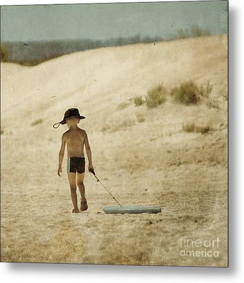 Surfs Out For Summer Metal Print by Paul Grand