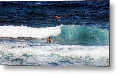 Metal Print featuring the photograph Surfs Up by Elizabeth  Doran