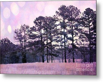 Surreal Fantasy Nature Purple Trees Landscape Metal Print
