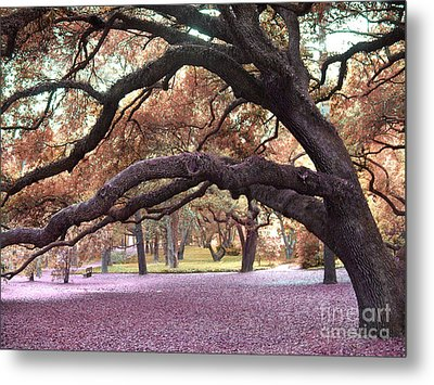 Surreal Old Oak Tree South Carolina Fall Colors Metal Print by Kathy Fornal