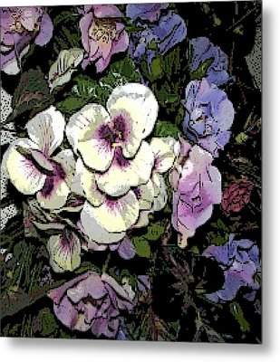 Metal Print featuring the photograph Surrounding Pansies by Pamela Hyde Wilson