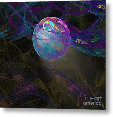 Metal Print featuring the digital art Suspension by Victoria Harrington