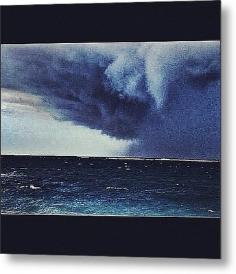 #svcstorms #hurrican #ike Is On Its Way Metal Print by Andy Lee