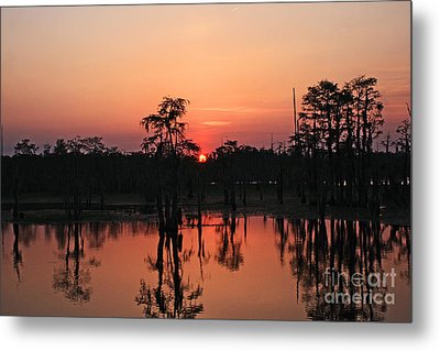 Metal Print featuring the photograph Swamp Sunset by Luana K Perez