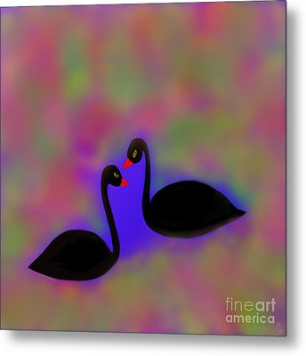Metal Print featuring the digital art Swan Song by Latha Gokuldas Panicker