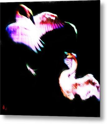 Swans Metal Print by Adam Vance