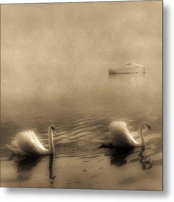Swans Metal Print by Joana Kruse