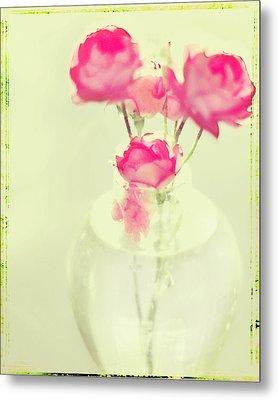 Sweet Fairy Rose Metal Print