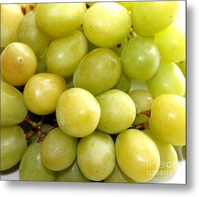 Sweet Green Grapes Metal Print by Barbara Griffin