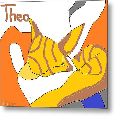 Metal Print featuring the painting Sweet Theo by Anita Dale Livaditis