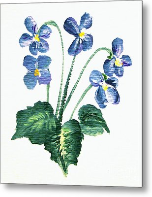 Sweet Violets Metal Print by Leea Baltes