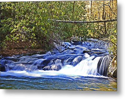 Metal Print featuring the photograph Swiftly Flowing River by Susan Leggett