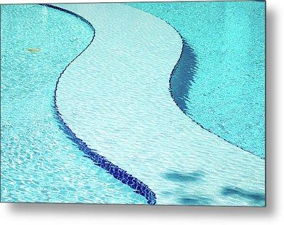 Swimming Pool Metal Print by Dogra Exposures