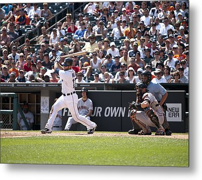 Swing And Hit Metal Print by Cindy Lindow