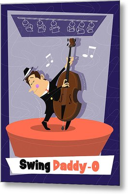 Swing Daddy-o Metal Print by Andrew Fling