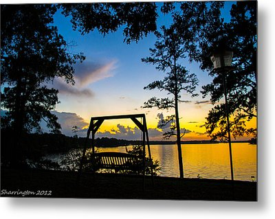 Swing Silhouette  Metal Print by Shannon Harrington