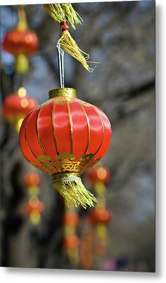 Swinging Chinese Lanterns Metal Print by Jeremy Vickers Photography