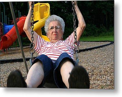 Swinging Grandmother 11 Metal Print