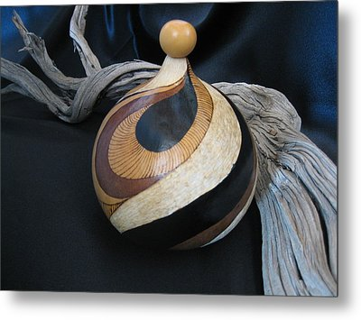 Swirl Gourd 2 #gn30 Metal Print