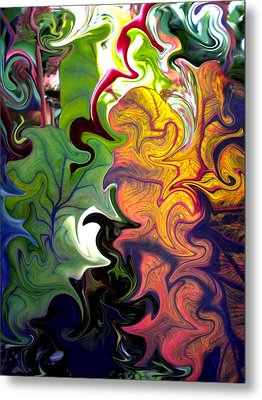 Swirled Leaves Metal Print by Renate Nadi Wesley