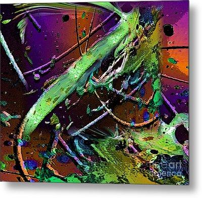 Swirls Number 2 Metal Print by Doris Wood