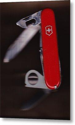 Swiss Army Knife Metal Print by Karl Reid