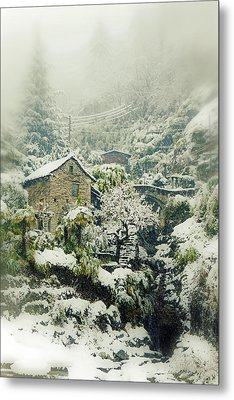 Switzerland In Winter Metal Print by Joana Kruse