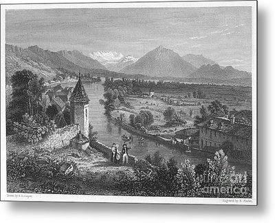 Switzerland: Thun, 1833 Metal Print by Granger