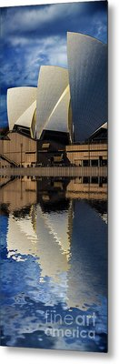 Sydney Opera House Abstract Metal Print by Avalon Fine Art Photography
