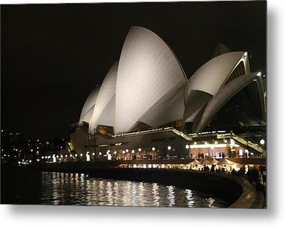 Metal Print featuring the photograph Sydney Opera House At Night by Laurel Talabere