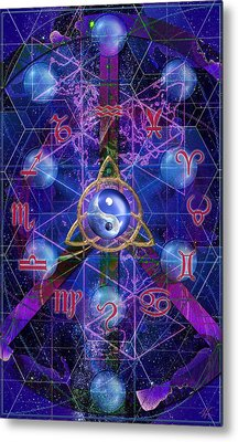 Symagery 35 Metal Print by Kenneth Armand Johnson