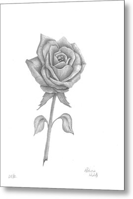 Metal Print featuring the drawing Symbol Of Love by Patricia Hiltz