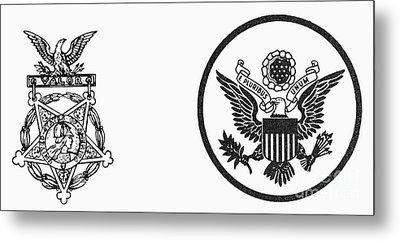 Symbols: U.s. Army Metal Print
