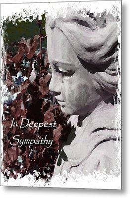 Sympathy Angel Card Metal Print by Cindy Wright