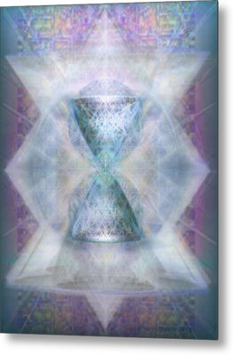 Metal Print featuring the digital art Synthesphered Chalice 'fifouray' On Tapestry by Christopher Pringer