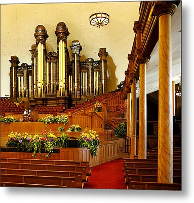 Tabernacle Pipe Organ Metal Print