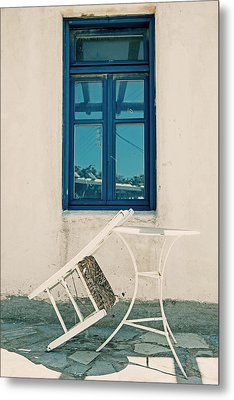 Table And Chair Metal Print by Joana Kruse