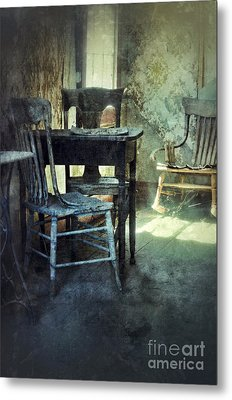 Table And Chairs Metal Print by Jill Battaglia