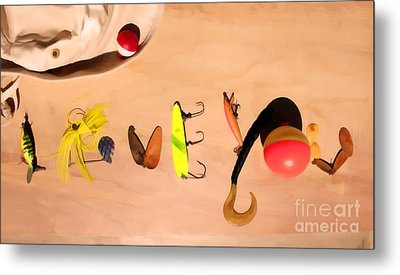 Metal Print featuring the photograph Tacklebox I Love You by Cathy  Beharriell