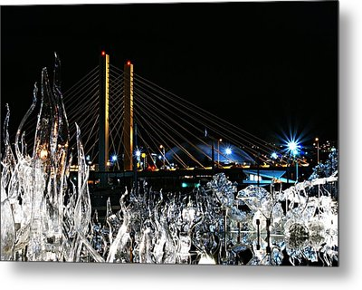 Tacoma Museum Of Glass Outdoor Sculpture Enhanced Metal Print