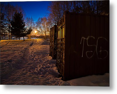 Metal Print featuring the photograph Tagged Containers by Matti Ollikainen