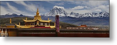 Tagong Si Monastery Buddhist Temple Metal Print by Phil Borges