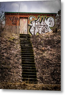 Metal Print featuring the photograph Tagstairs by Matti Ollikainen