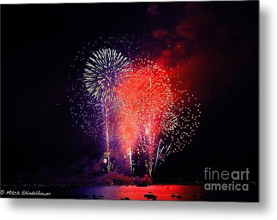 Metal Print featuring the photograph Tahoe Fireworks. by Mitch Shindelbower