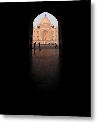 Taj Portal Metal Print by Mike Reid
