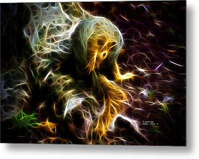 Take A Bow - Fractal - Robbie The Squirrel - Fractal Metal Print by James Ahn