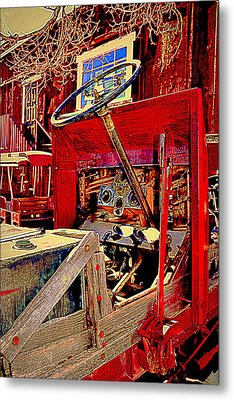 Take The Wheel Please Metal Print