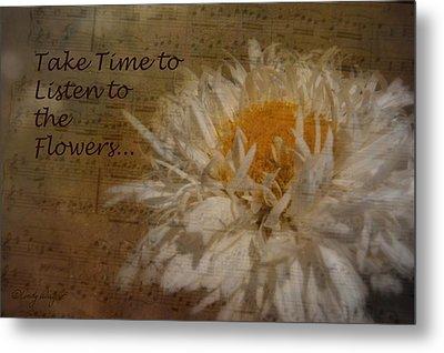 Take Time Metal Print by Cindy Wright