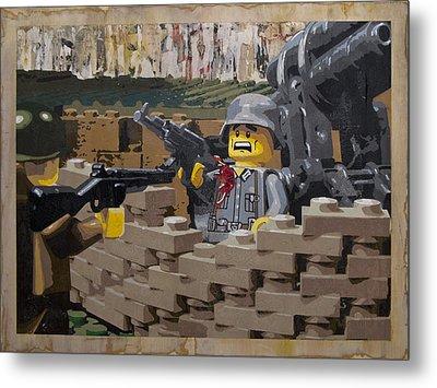 Taking The Bunker Metal Print by Josh Bernstein